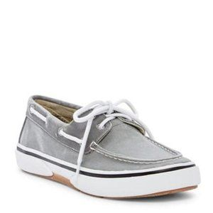 Sperry Mens Grey Halyard 2-Eye Boat Shoes Size 7